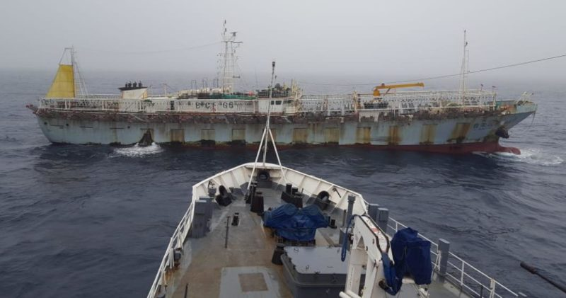 El potero chino que se había escapado llegará hoy a la rada de Puerto Madryn